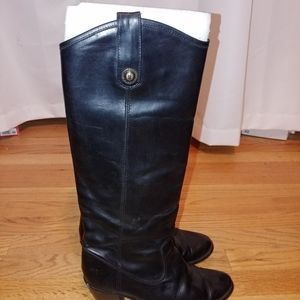frye Black heeled boots size 7.5